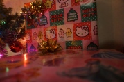 Daniel wrapped all my gifts in Hello Kitty and Disney Princess wrapping paper