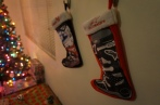 Stockings hung in true Daniel style